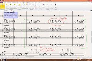 Versión 8 del programa de edición Sibelius.