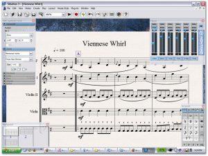 Versión 3.0 anterior software de ediciónes Sibelius.