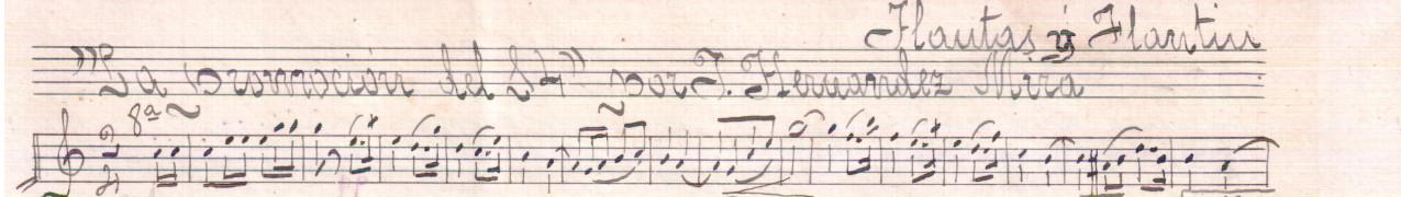 Transcripción y edición partituras antiguas