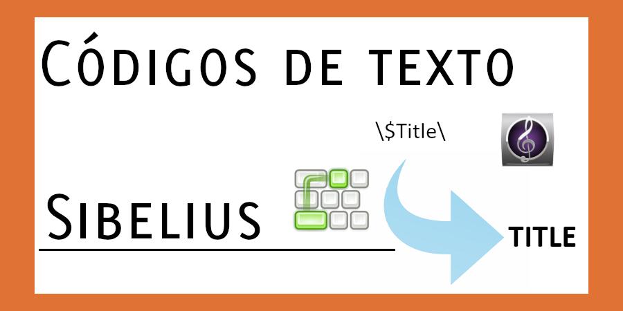 Códigos de texto de Sibelius