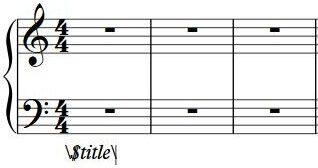Ejemplo de como escribir códigos de texto en Sibelius